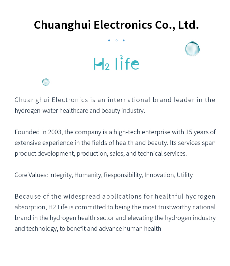 About H2 life and chuanghui electronics co ltd