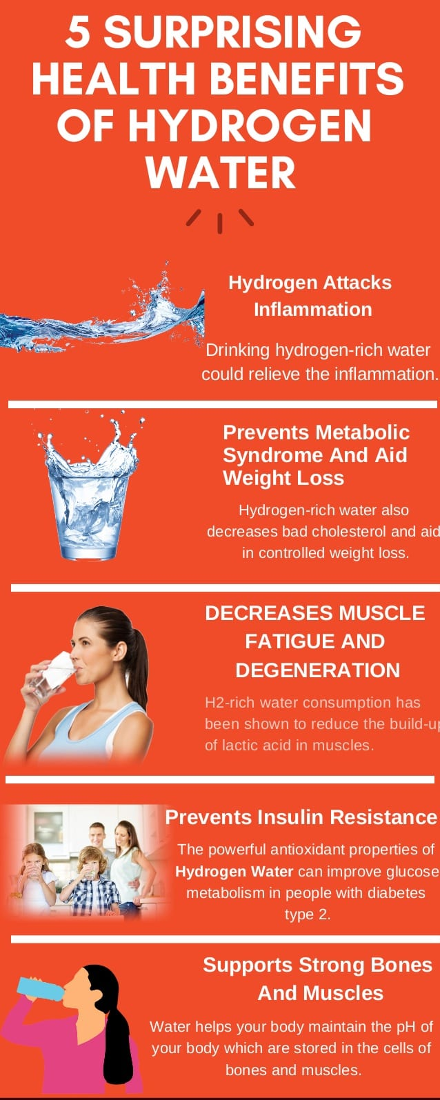 Health Benefits of Hydrogen Water Drinking